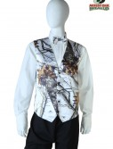 White Mossy Oak Full Back Vest buy now
