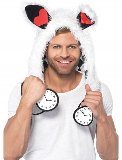 White Rabbit Furry Hood Hat buy now