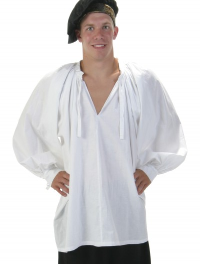 White Renaissance Peasant Shirt buy now