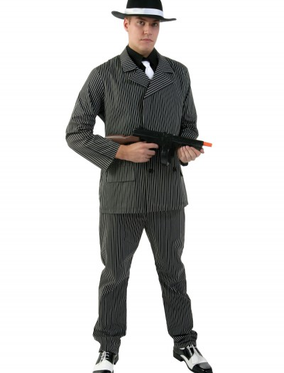 Wide Stripe Plus Size Gangster Costume buy now