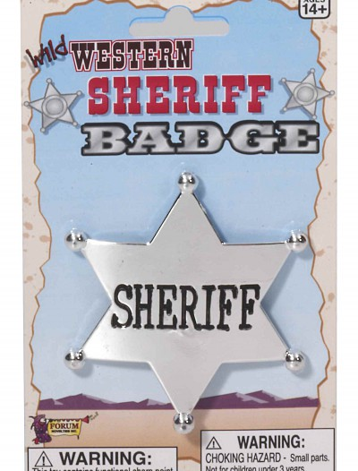 Wild West Sheriff Badge buy now
