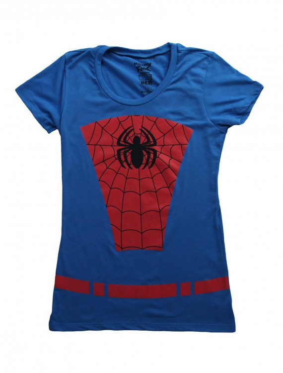 Womens Belted Spider-Man Costume TShirt buy now