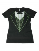 Womens Black Irish Tuxedo Costume T-Shirt buy now