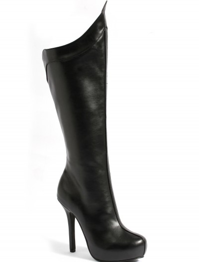 Womens Black Superhero Boots buy now