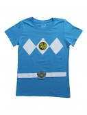 Womens Blue Power Rangers Costume T-Shirt buy now