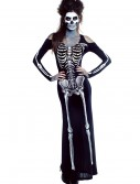 Womens Bone Appetit Skeleton Long Dress Costume buy now