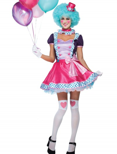 Women's Bubble Gum Clown Costume buy now