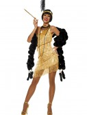Women's Dazzling Gold Flapper Costume buy now