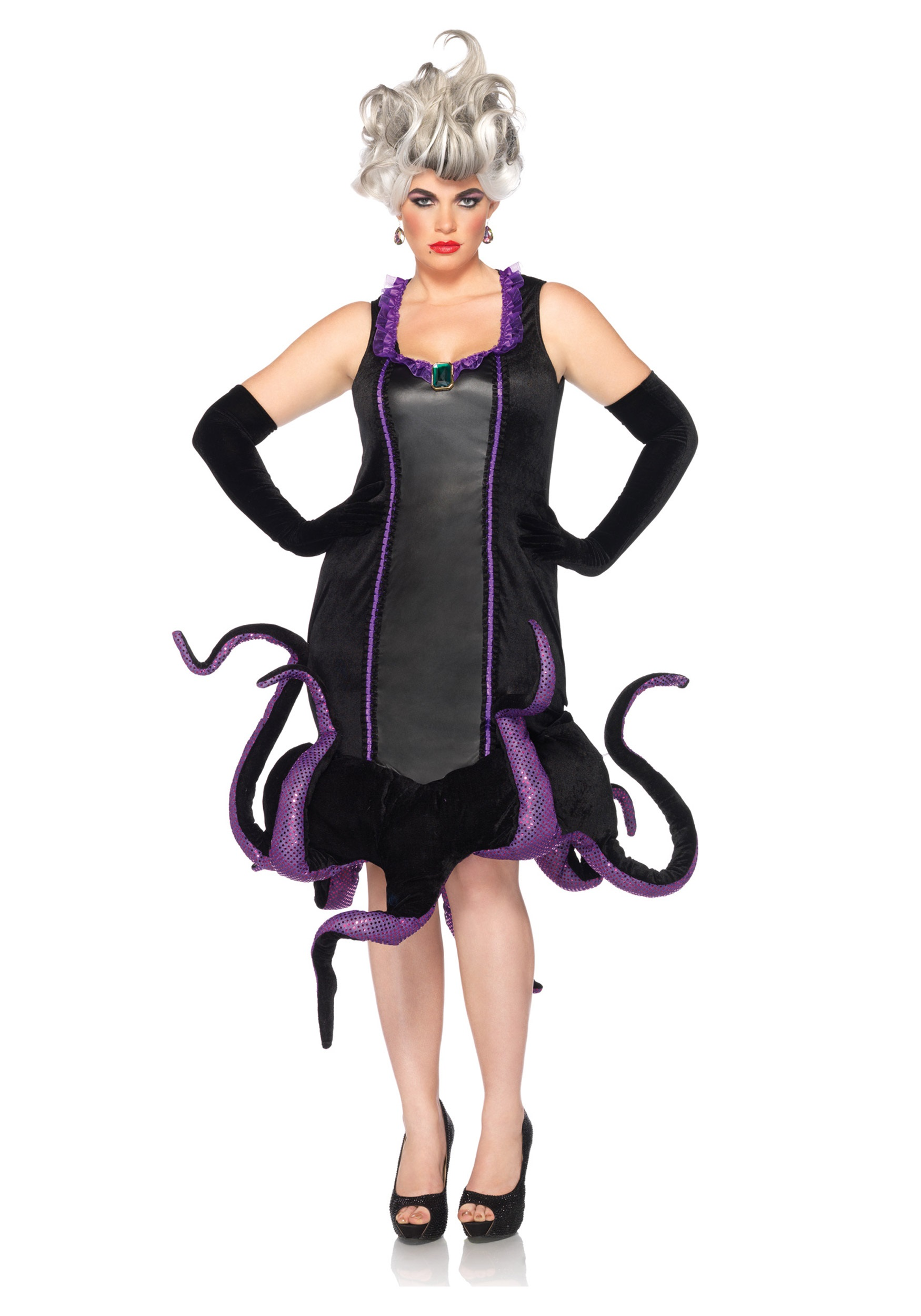 Womens Disney Plus Ursula Costume  sc 1 st  Halloween Costumes & Womens Disney Plus Ursula Costume - Halloween Costumes