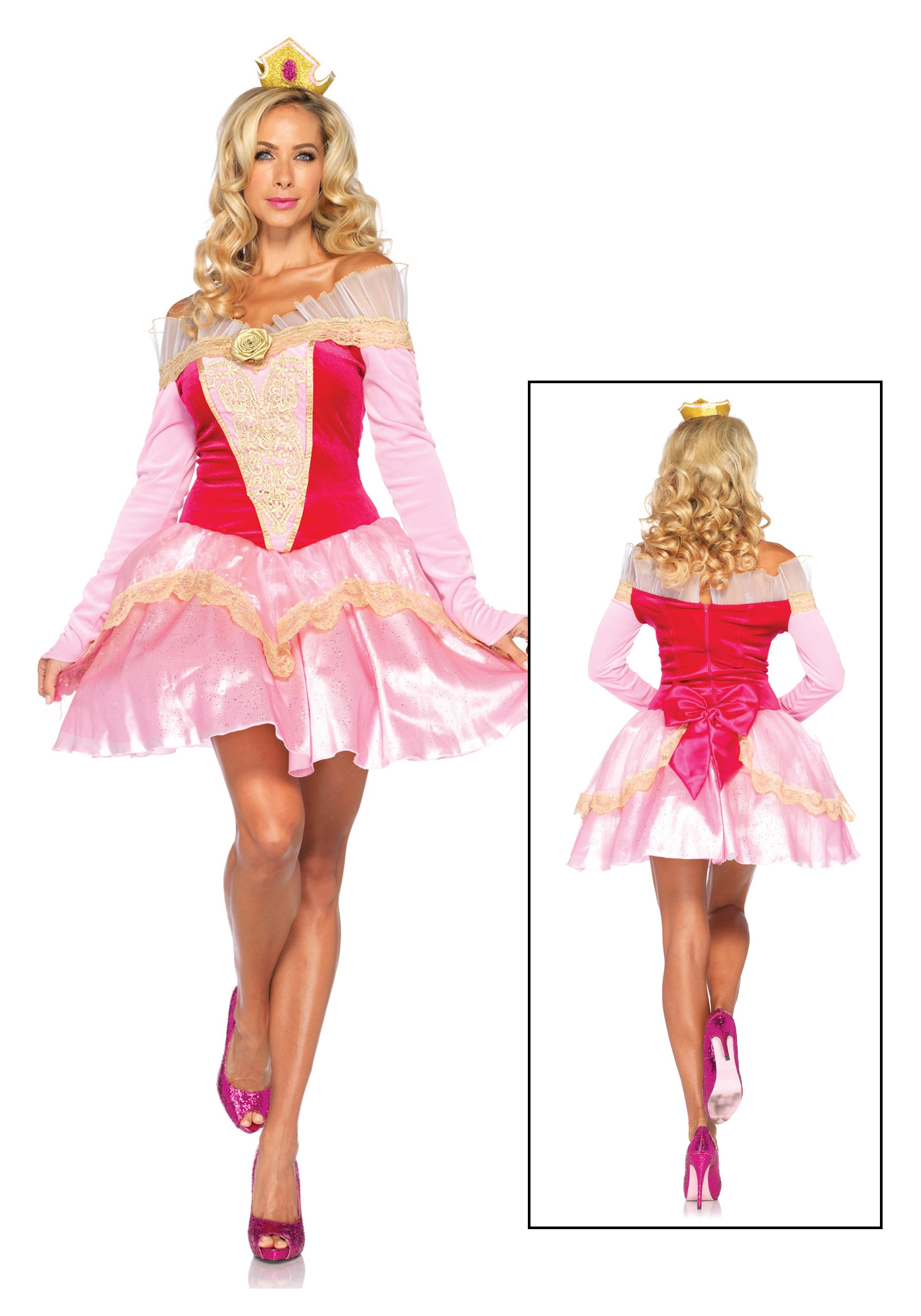 Womens Disney Princess Aurora Costume  sc 1 st  Halloween Costumes : costume disney princess  - Germanpascual.Com