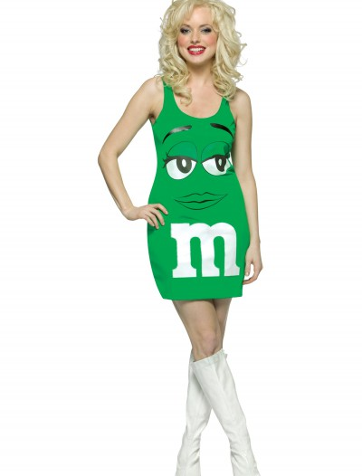 Womens Green M&M Costume buy now