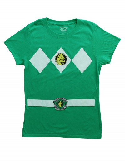 Womens Green Power Ranger Costume T-Shirt buy now