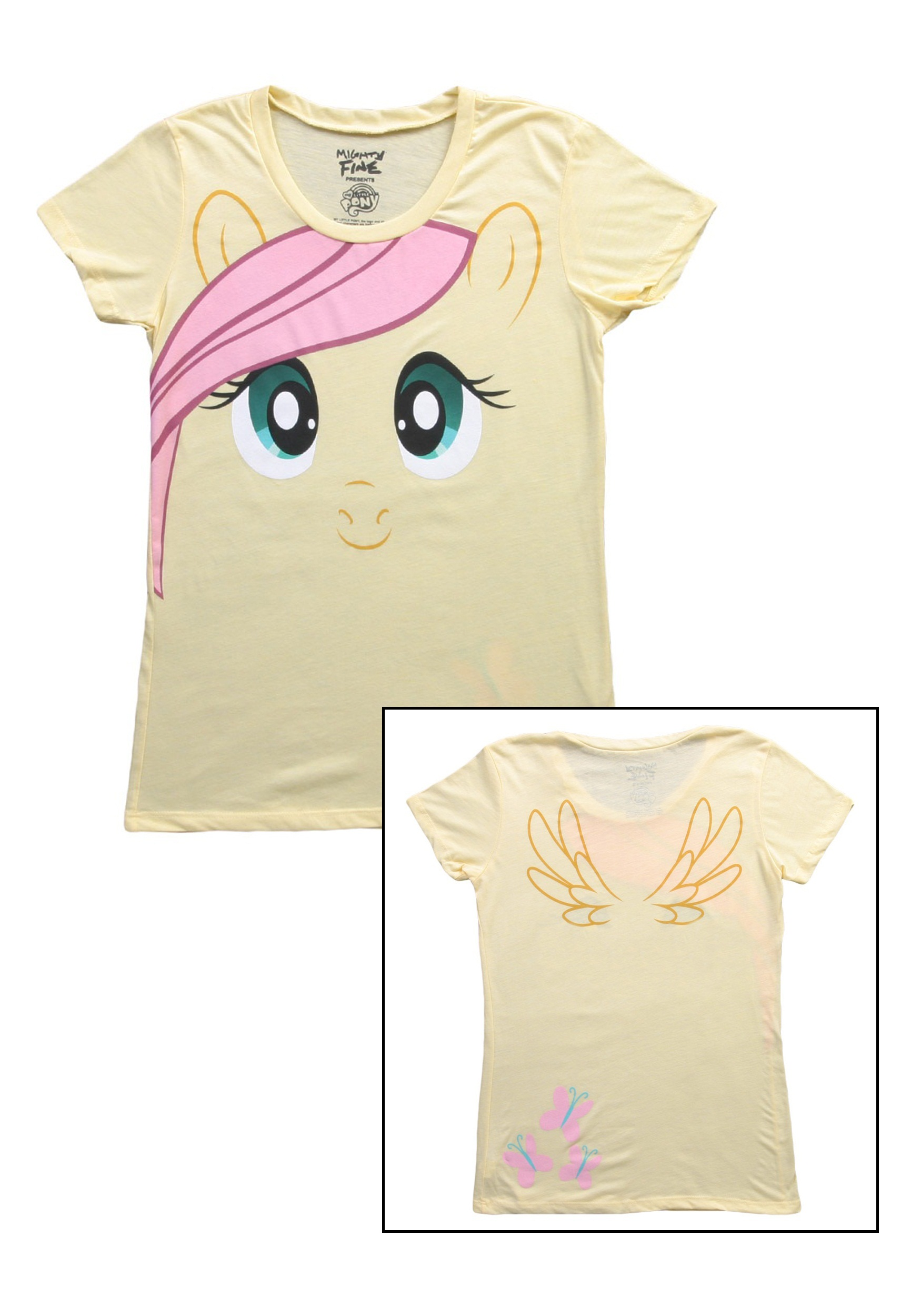womens my little pony fluttershy face t-shirt - halloween costumes