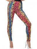 Womens Neon Leopard Print Leggings buy now