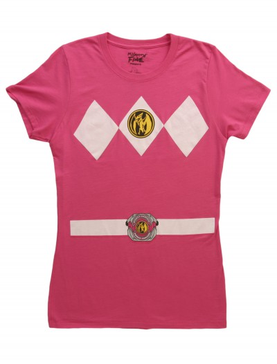 Womens Pink Power Ranger Costume T-Shirt buy now