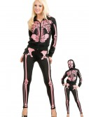 Women's Pink Skeleton Hooded Sweatshirt buy now