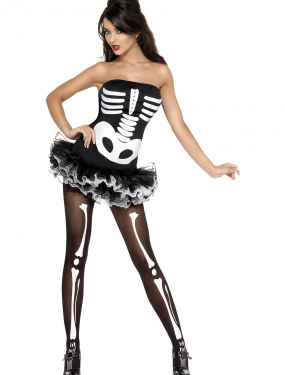 Womens Plus Size Sexy Skeleton Costume buy now