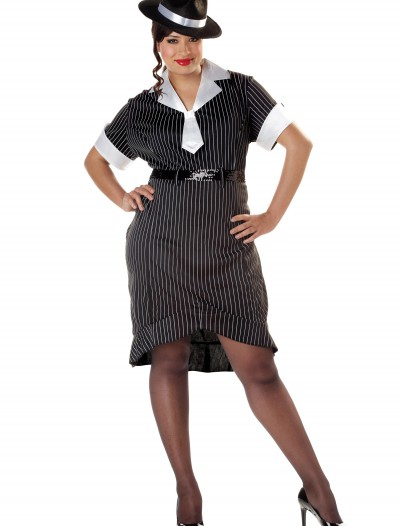 Women's Plus Size Flirty Gangster Costume buy now