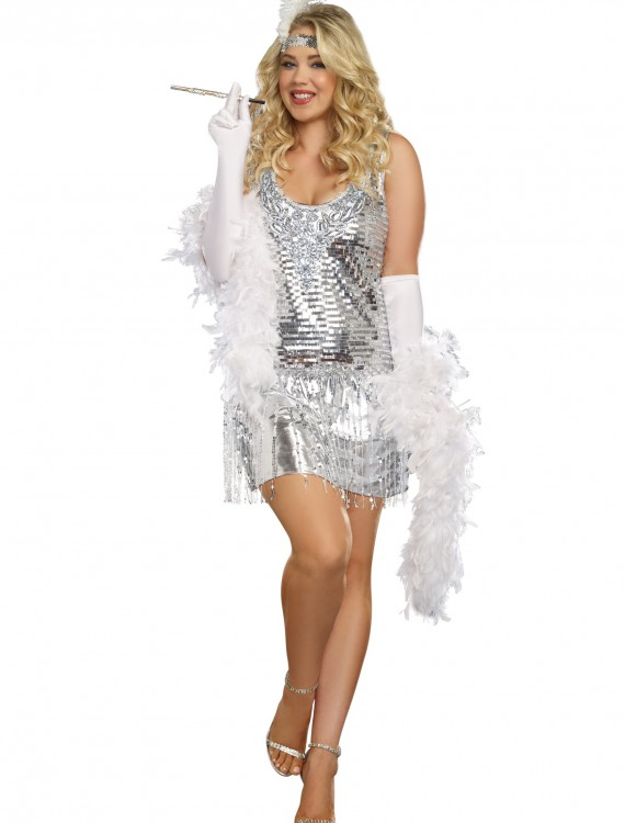 Women's Plus Size Life of the Party Flapper Costume buy now
