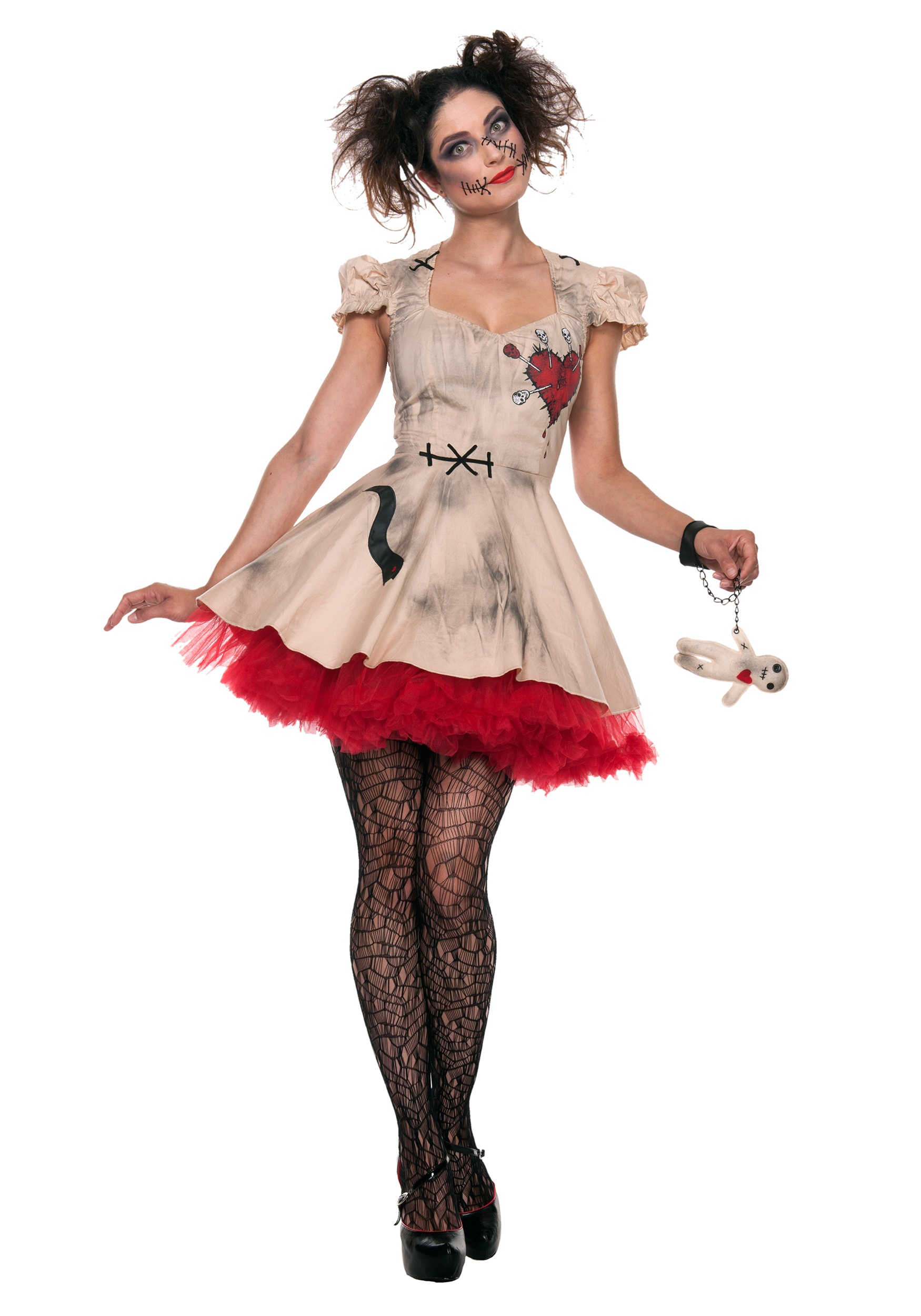 womens plus size voodoo doll costume