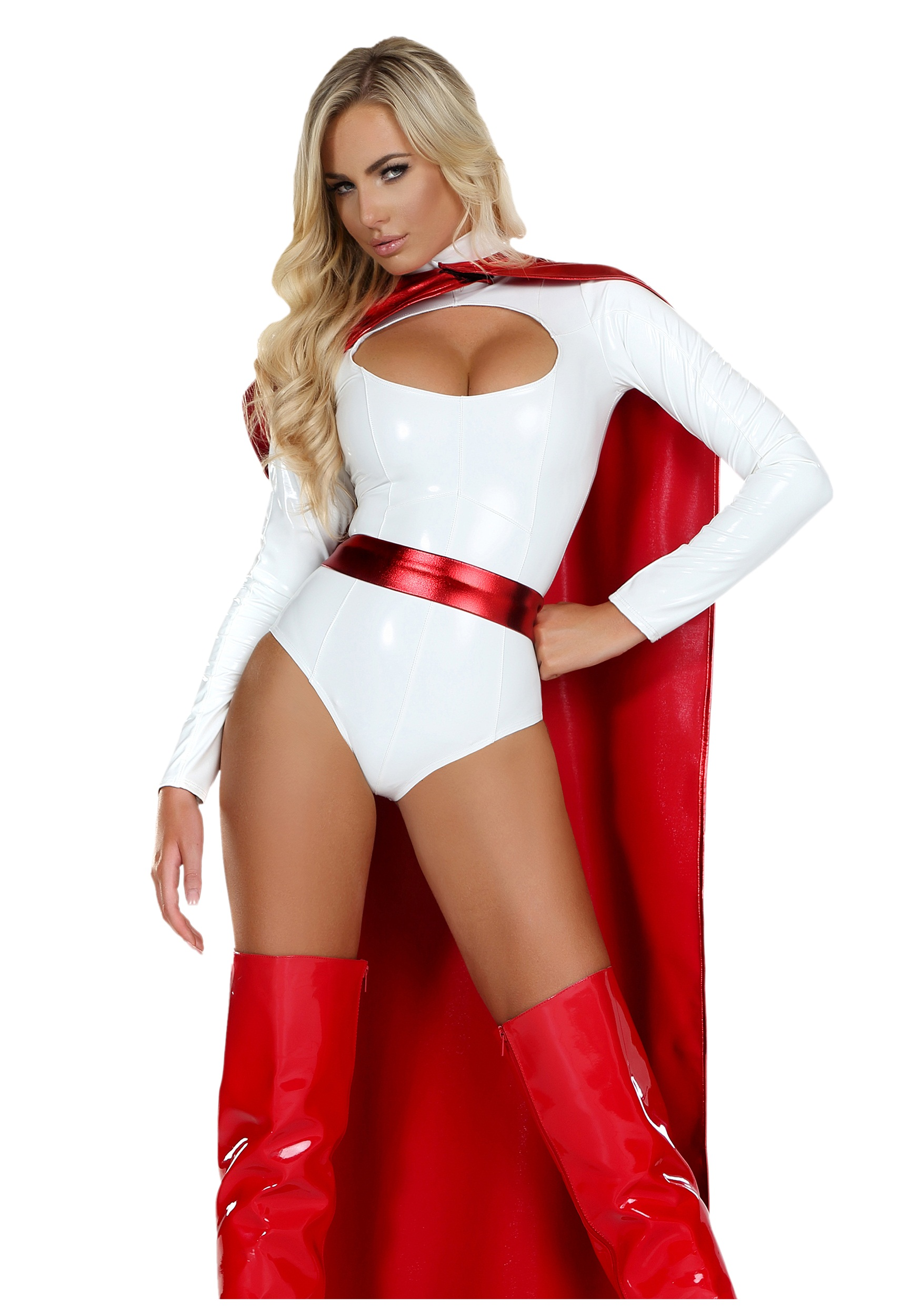 Womens Powerful Superhero Costume  sc 1 st  Halloween Costumes : superhero girl costumes  - Germanpascual.Com