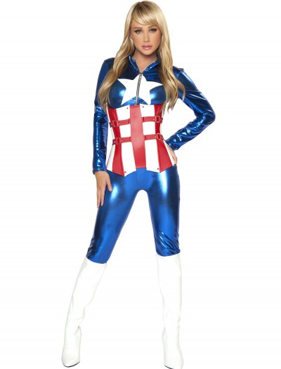 Womens Sexy American Hero Costume buy now