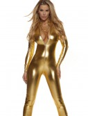 Womens Solid Gold Mock Neck Jumpsuit buy now
