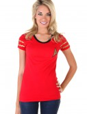 Womens Star Trek Starfleet Red Costume T-Shirt buy now
