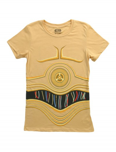 Womens Star Wars C3PO Costume T-Shirt buy now