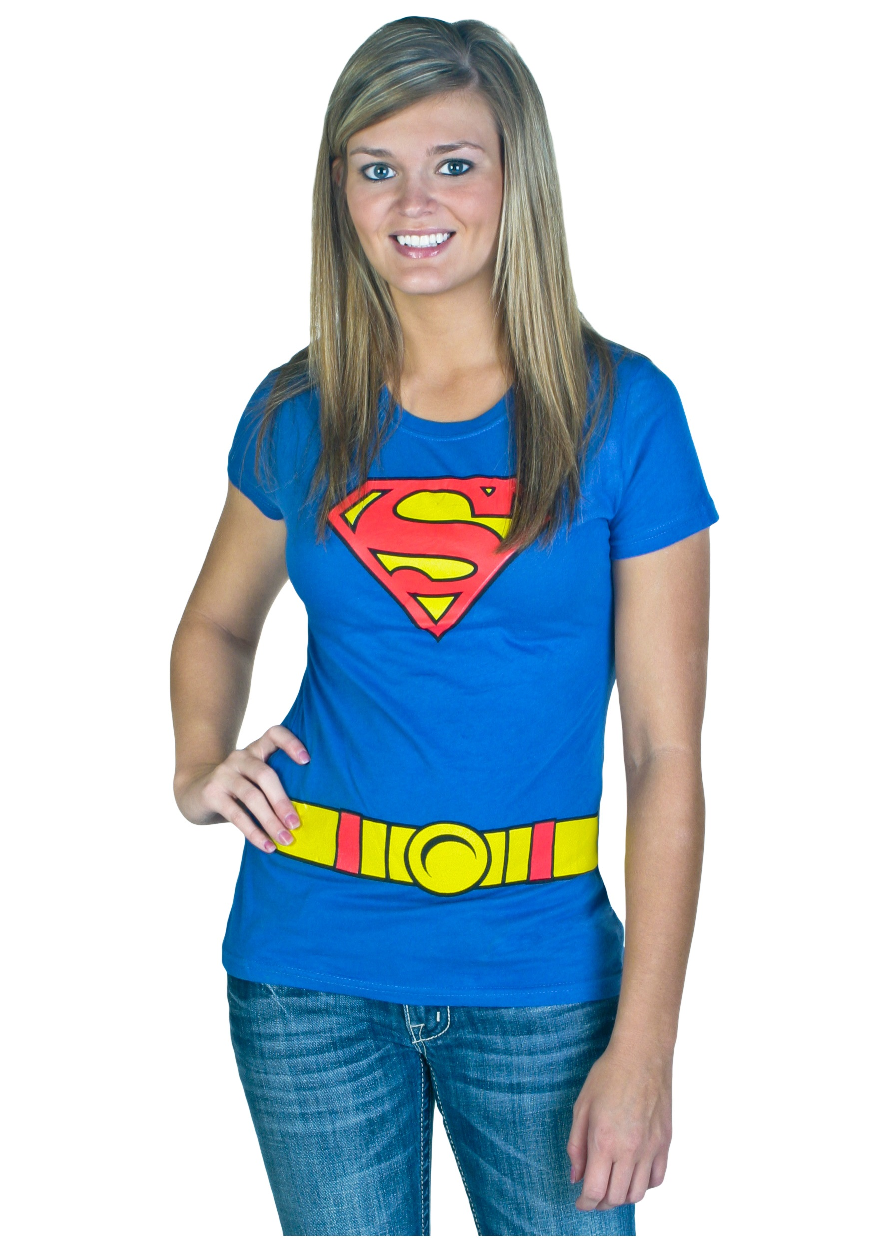 Women S Supergirl Costume T Shirt Halloween Costumes