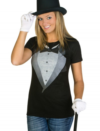 Womens Tuxedo Costume T-Shirt buy now