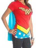 Womens Wonder Woman V-Neck Cape T-Shirt buy now