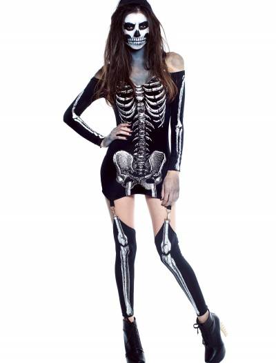 Womens X-Rayed Skeleton Dress Costume buy now