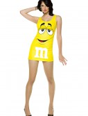 Womens Yellow M&M Costume buy now