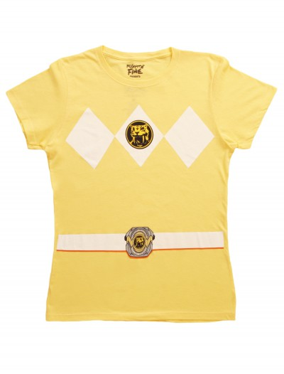 Womens Yellow Power Ranger Costume T-Shirt buy now