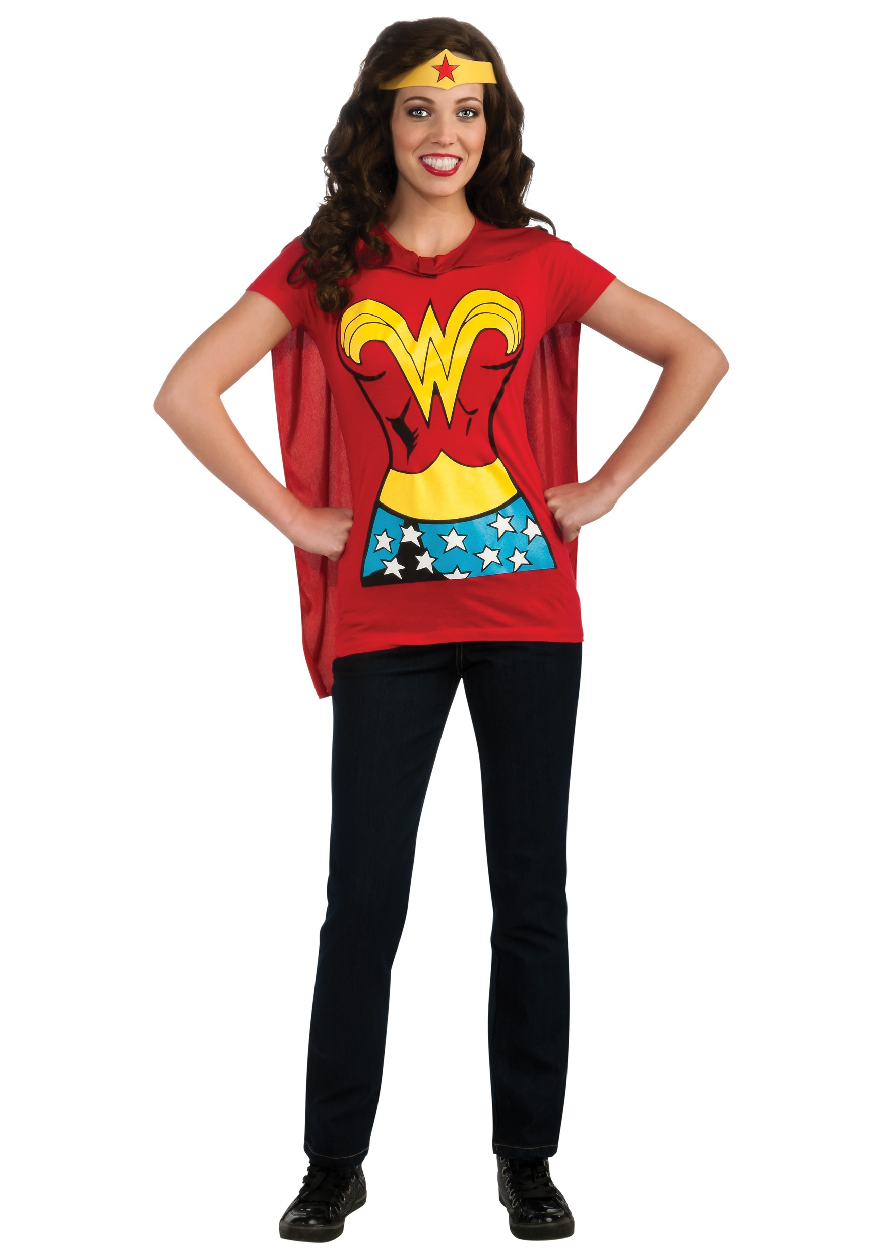 119a112bb78 Maternity Superhero Costumes   Wonder Woman And Her In-utero ...