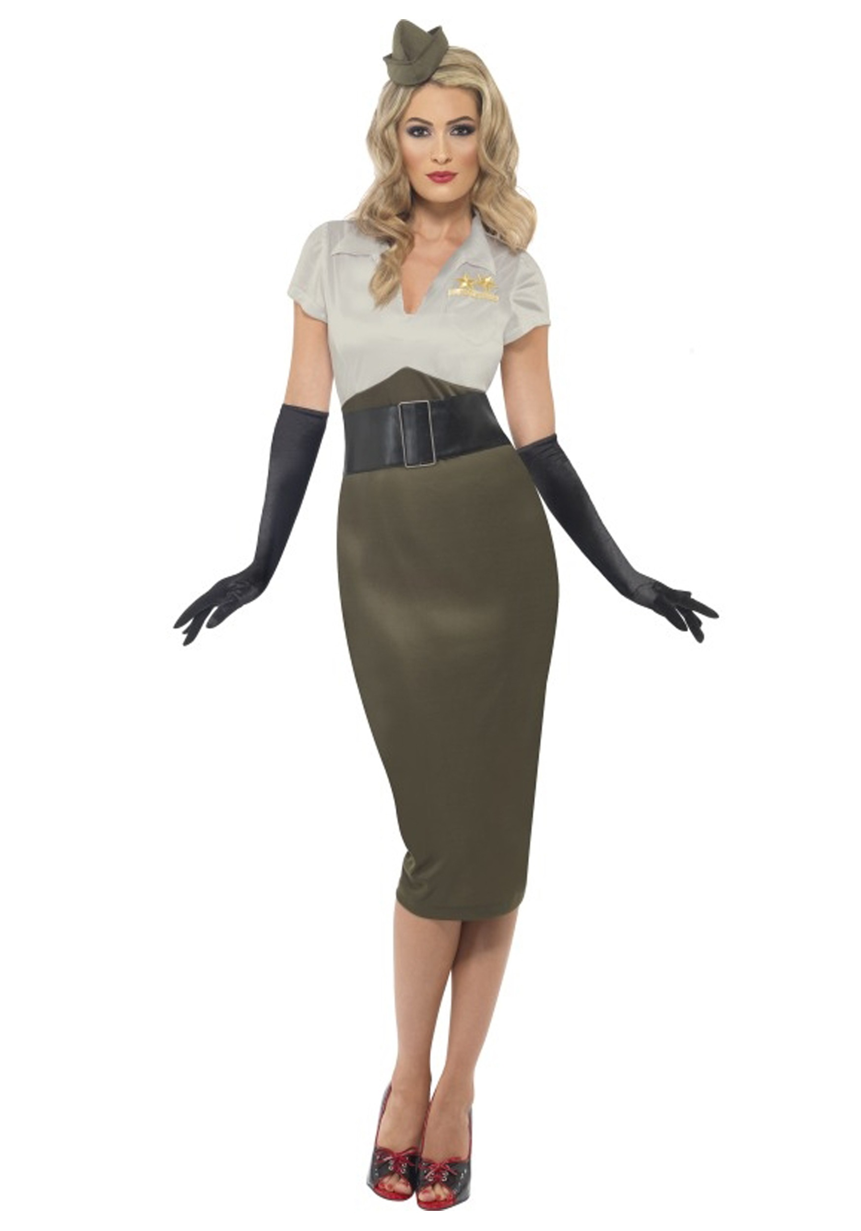 WW2 Army Pin Up Darling Costume  sc 1 st  Halloween Costumes & WW2 Army Pin Up Darling Costume - Halloween Costumes