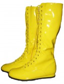 Yellow Wrestling Costume Boots buy now