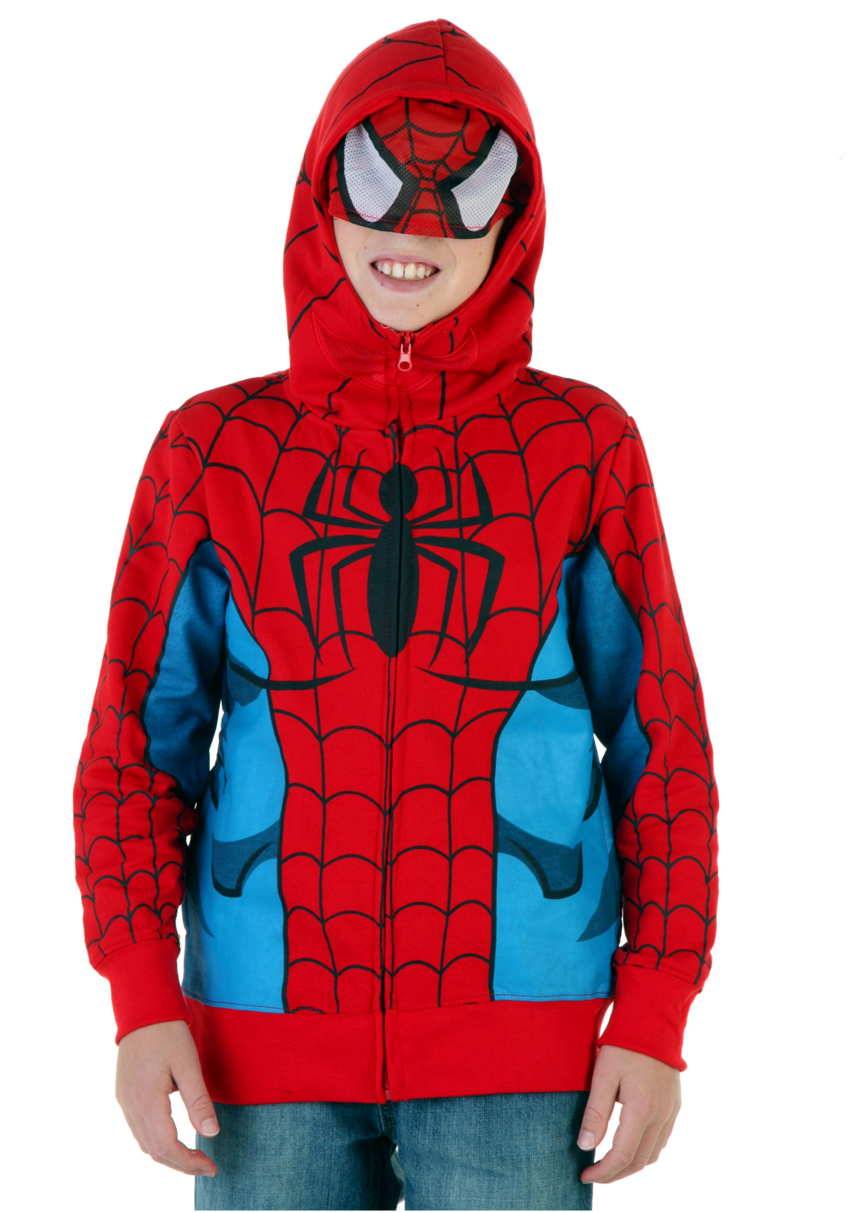 Youth Spider-Man Costume Hoodie  sc 1 st  Halloween Costumes & Youth Spider-Man Costume Hoodie - Halloween Costumes