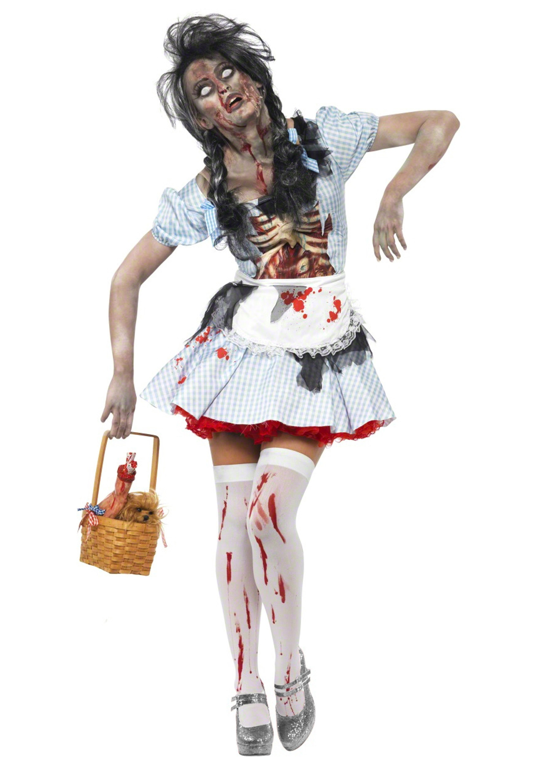Halloween Zombie Costumes For Girls.Zombie Kansas Girl Costume