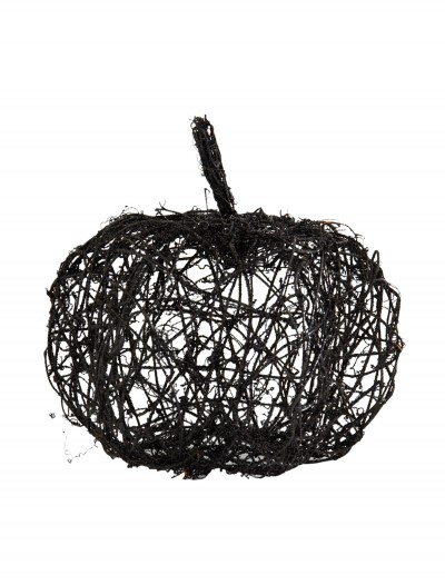 "12"" Black Wire Glitter Pumpkin buy now"