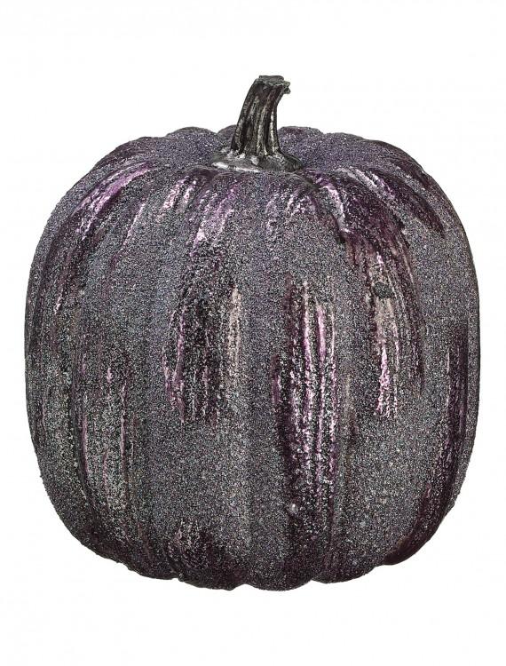 """6"""" Purple Glittered Pumpkin buy now"""