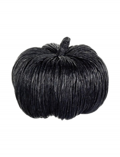 6.5 Inch Black Glittered Pumpkin buy now