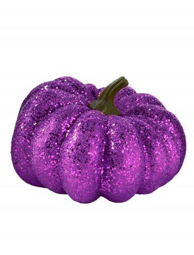 """6.5"""" Round Purple Glitter Pumpkin buy now"""