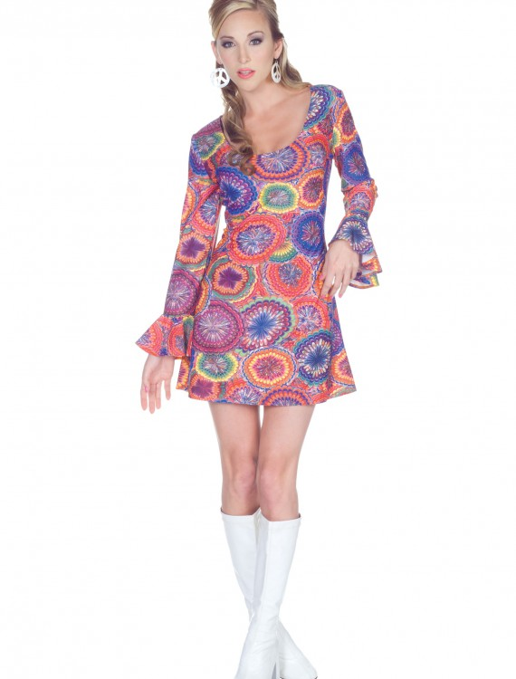 70s Sexy Psychedelic Dress buy now