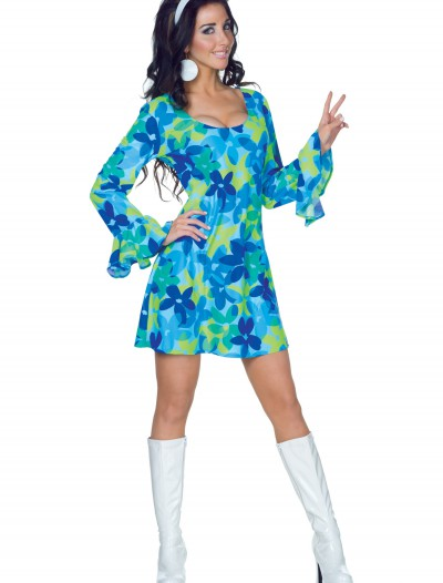 70s Wild Flower Dress Costume buy now
