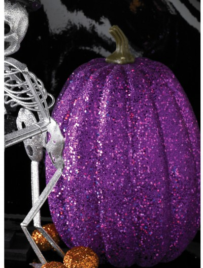 "7.5"" Tall Purple Glitter Pumpkin buy now"