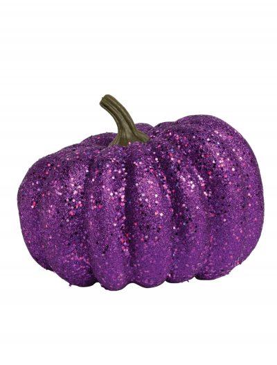 """8"""" Round Purple Glitter Pumpkin buy now"""