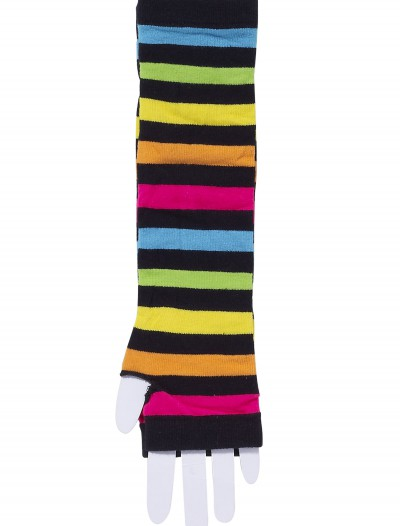 80's Rainbow Striped Gloves buy now