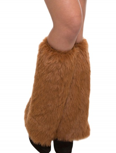 Adult Brown Furry Leg Warmers buy now